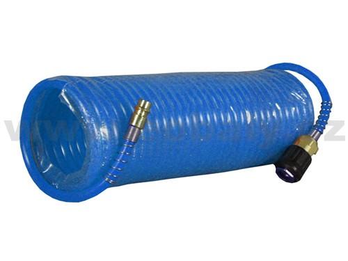 Hadice spirálová s rychlospojkami 7,5 m