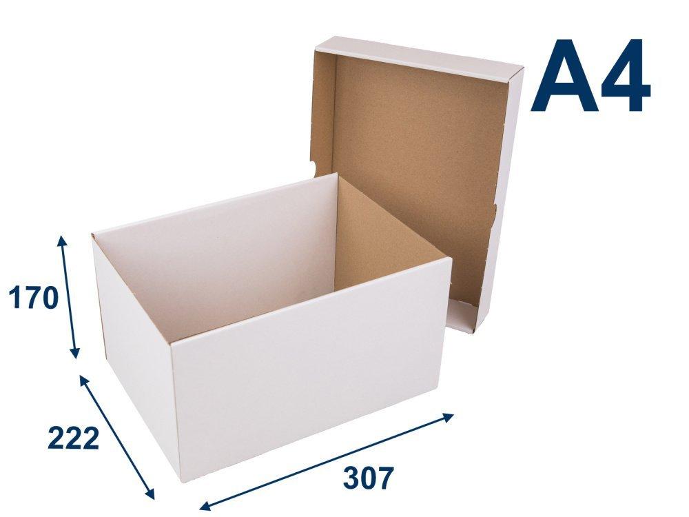 Krabice s víkem A4 307x222x170 3VVL - 5 ks