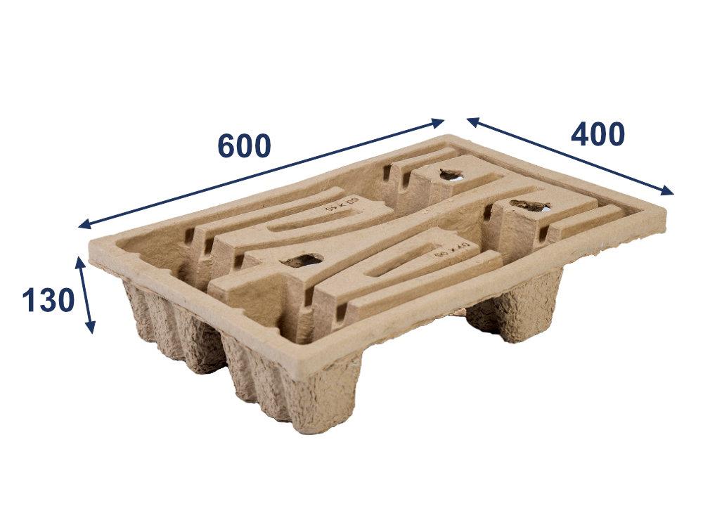 Paleta nasávaná kartonáž - 600x400x130 - nosnost 200 kg