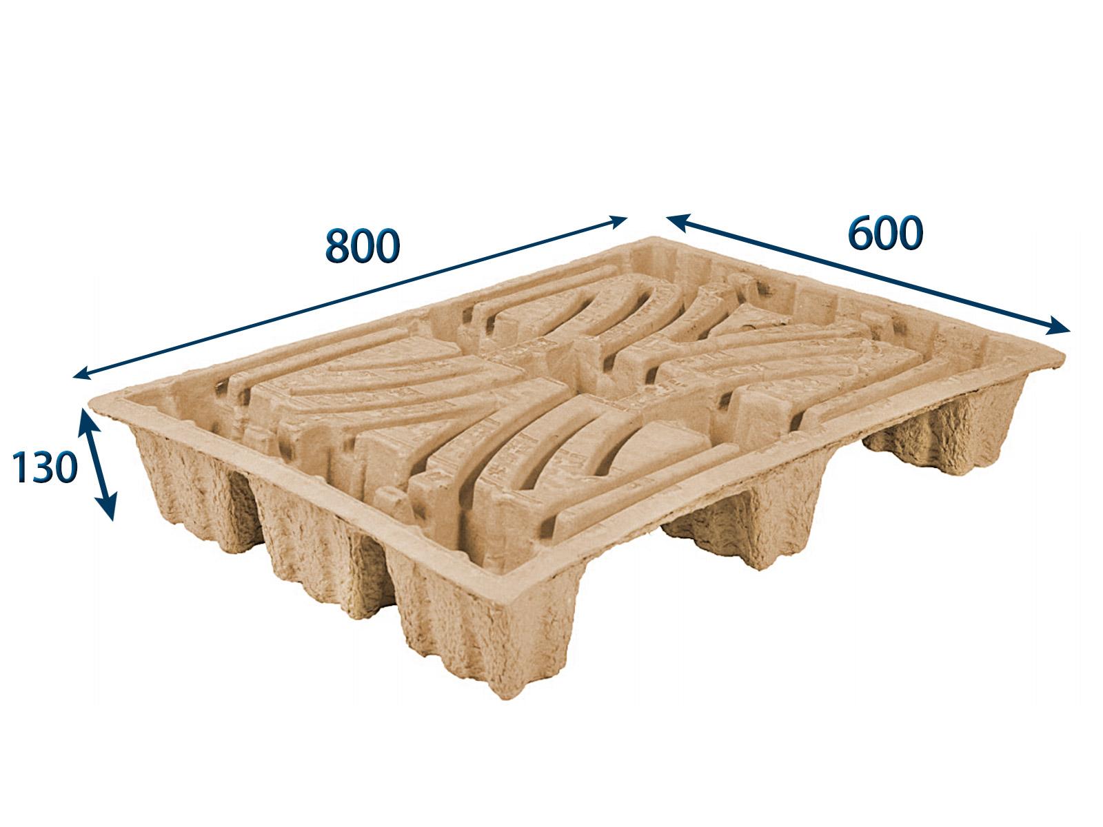 Paleta nasávaná kartonáž - 800x600x130 - nosnost 250 kg