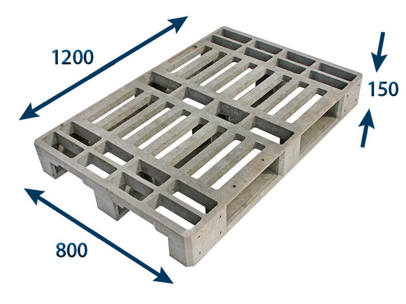 Paleta plastová 1200x800x150 - nosnost 1200 kg