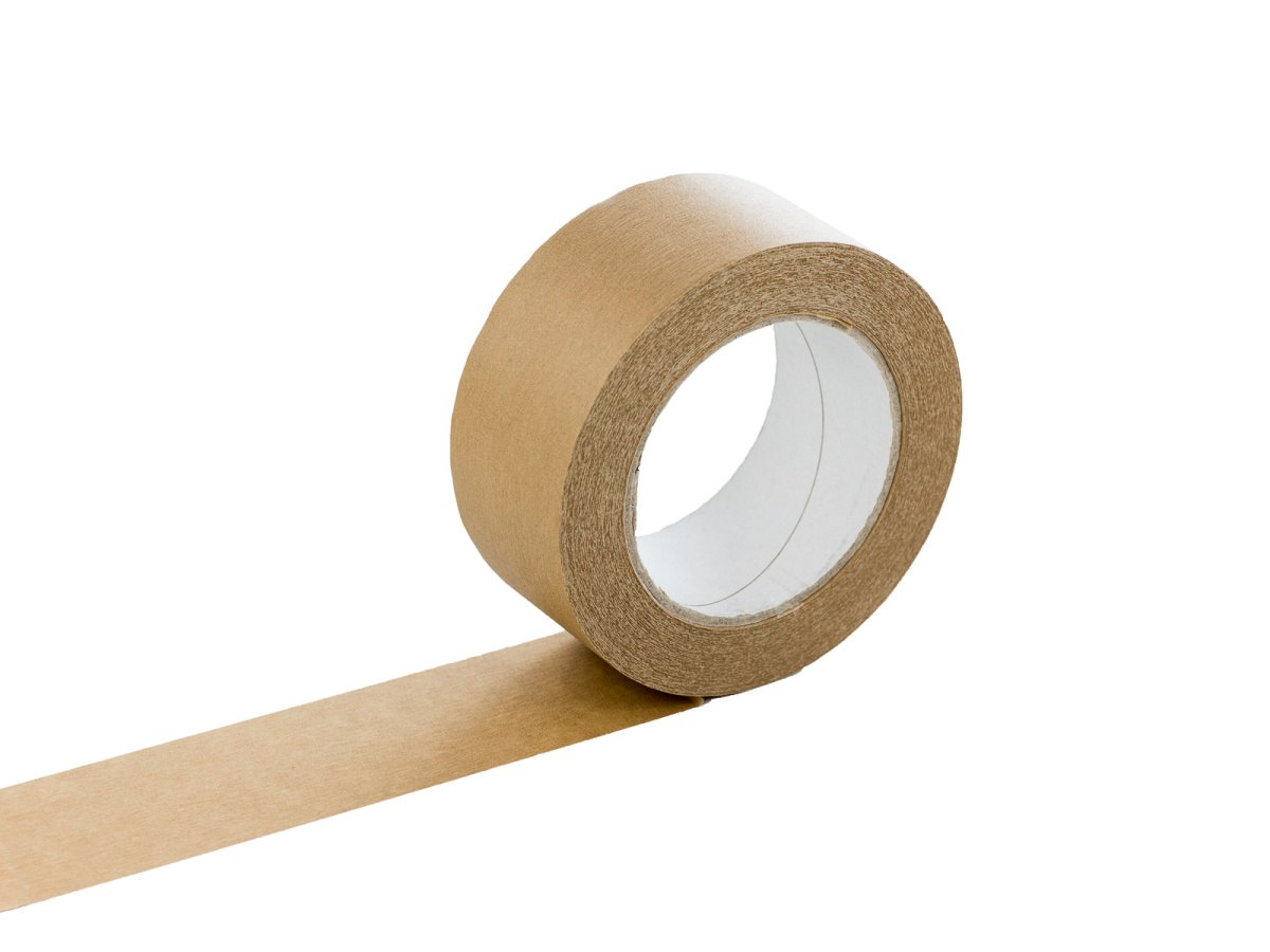 Páska samolepicí papírová 50x50 hnědá solvent