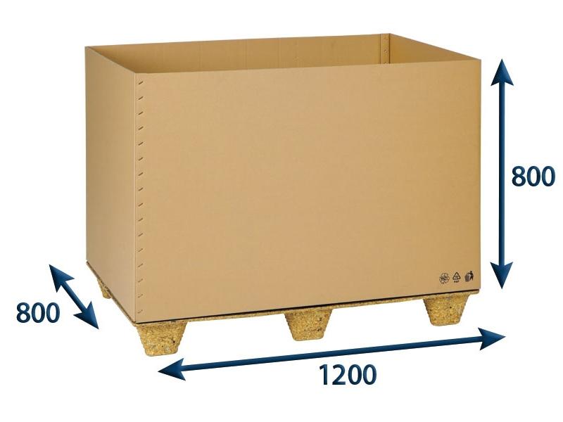 Přepravní EUROBOX 1200x800x800 5VVL - 15 ks