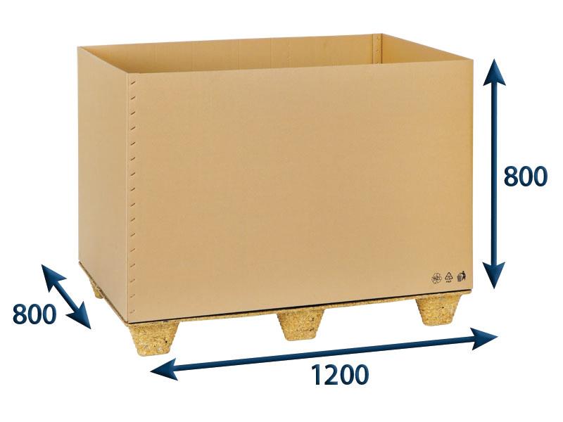 Přepravní EUROBOX 1200x800x800 7VVL bez horních klop - 15 ks