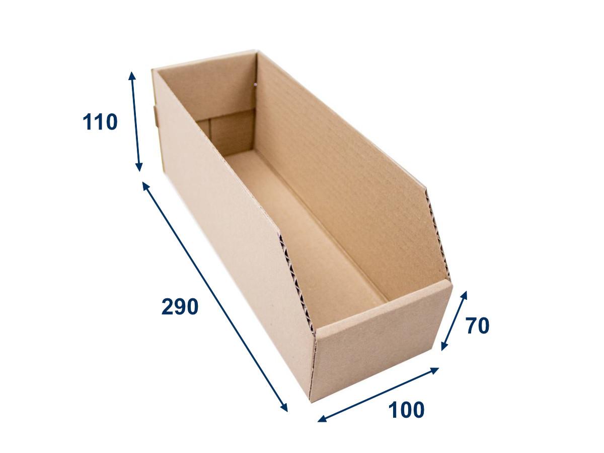 Regálový zásobník 100x290x110 3VVL kartonový - 25 ks