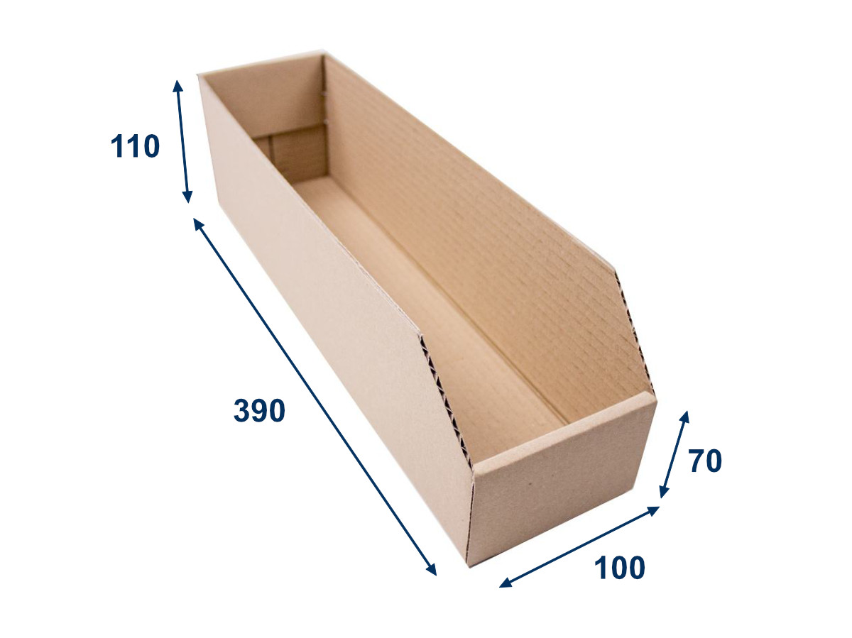 Regálový zásobník 100x390x110 3VVL kartonový - 25 ks