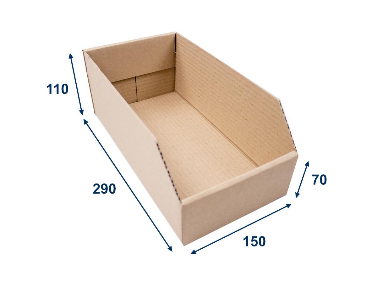 Regálový zásobník 150x290x110 3VVL kartonový - 25 ks