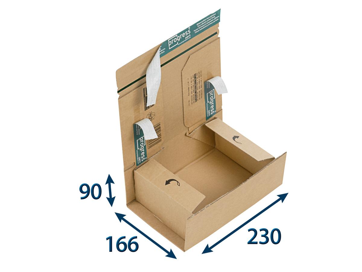 Zásilková krabice A5+ 230x166x90 SECURE - 20 ks